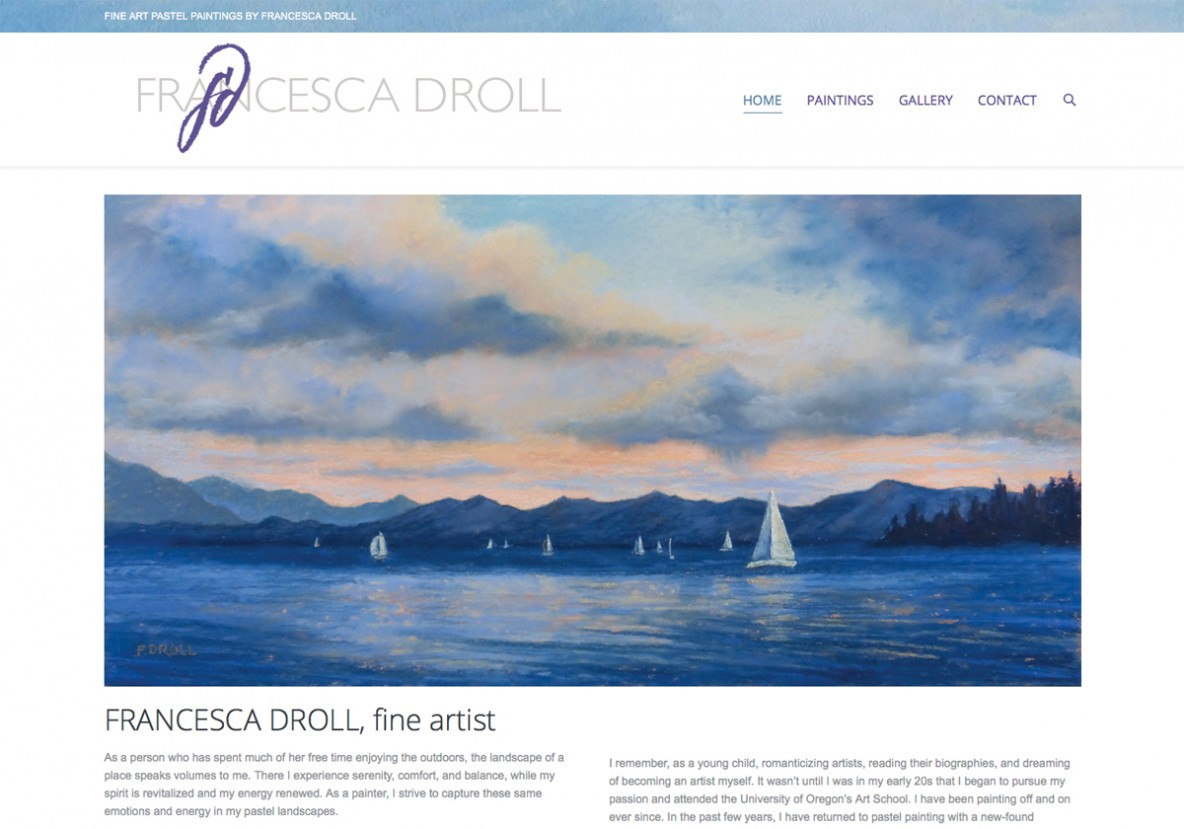 Francesca Droll website