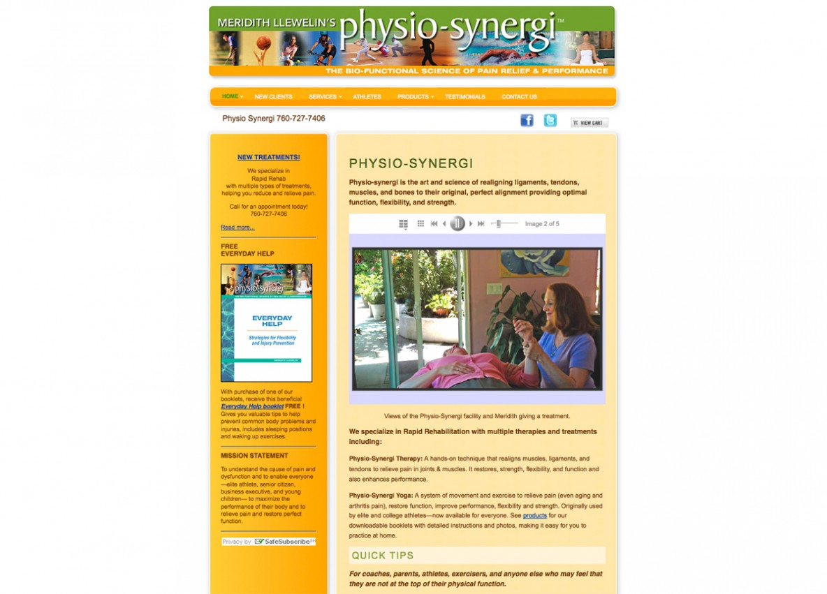 Physio Synergi website