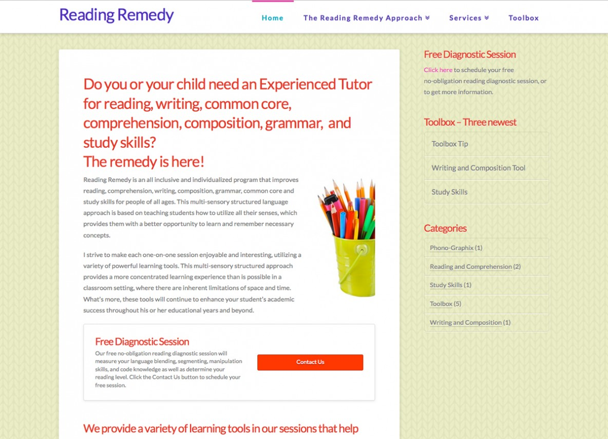 Reading Remedy website