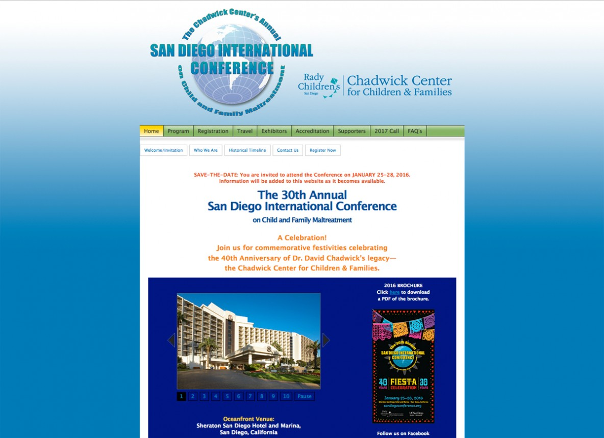 San Diego International Conference website